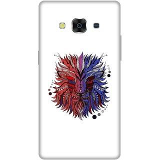 Print Opera Hard Plastic Designer Printed Phone Cover for Samsung Galaxy J3 Pro - Colorful Lion black