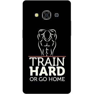 Print Opera Hard Plastic Designer Printed Phone Cover for Samsung Galaxy J3 Pro - Train hard or go home