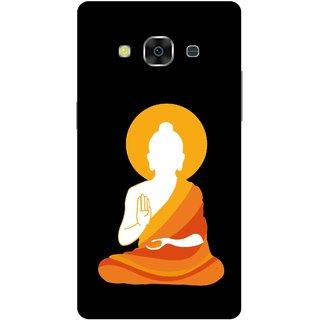 Print Opera Hard Plastic Designer Printed Phone Cover for Samsung Galaxy J3 Pro - Buddha in drape white