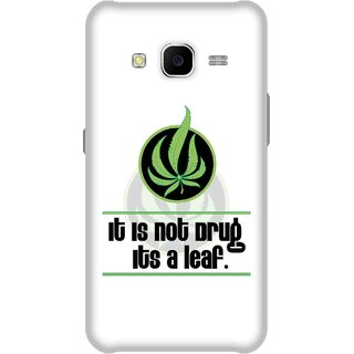 Print Opera Hard Plastic Designer Printed Phone Cover for Samsung Galaxy J7 2015 - Weed leaf