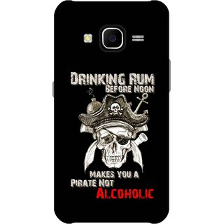 Print Opera Hard Plastic Designer Printed Phone Cover for Samsung Galaxy J7 2015 - Drinking rum before noon