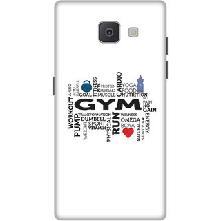 Print Opera Hard Plastic Designer Printed Phone Cover for Samsung J7 Prime / Samsung On7 2016 - Typo gym