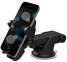 techdeal Car Mobile Holder for Dashboard, Windshield  (Black)