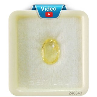 Yellow Sapphire Ceylon Mined Pukhraj Gemstone 8.25 Ratti / 7.42 CARAT 100  ORIGINAL CERTIFIED NATURAL GEMSTONE AAA QUAL