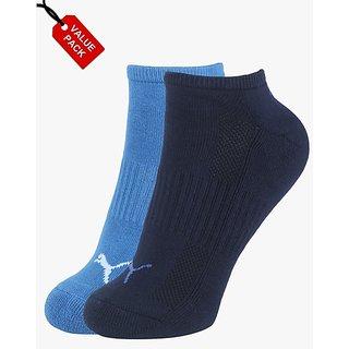 Puma Cushioned Multi-Color Socks - Pack of 2