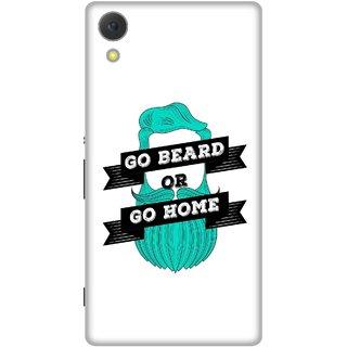 Print Opera Hard Plastic Designer Printed Phone Cover for Sony Xperia C6 - Go beard or go home