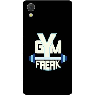 Print Opera Hard Plastic Designer Printed Phone Cover for Sony Xperia C6 - Gym freak