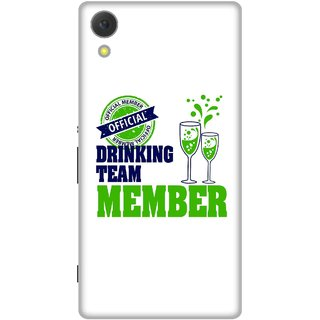 Print Opera Hard Plastic Designer Printed Phone Cover for Sony Xperia C6 - Official drinking team member
