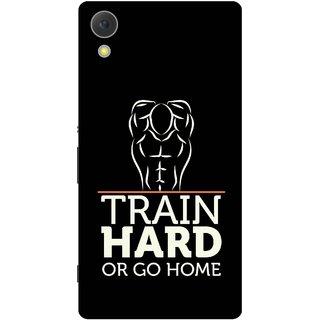 Print Opera Hard Plastic Designer Printed Phone Cover for Sony Xperia C6 - Train hard or go home