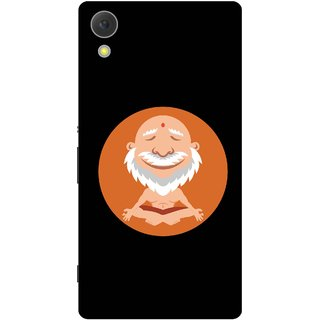Print Opera Hard Plastic Designer Printed Phone Cover for Sony Xperia C6 - Animated Buddha in Yoga
