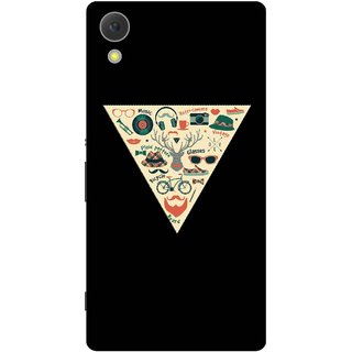 Print Opera Hard Plastic Designer Printed Phone Cover for Sony Xperia C6 - Hipster collage