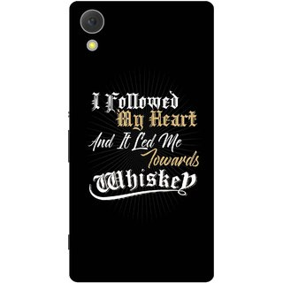 Print Opera Hard Plastic Designer Printed Phone Cover for Sony Xperia C6 - Led me towards whiskey