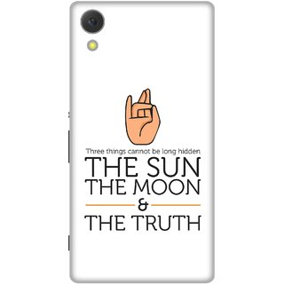 Print Opera Hard Plastic Designer Printed Phone Cover for Sony Xperia C6 - The sun,Moon and truth