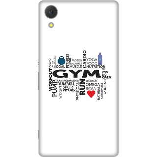 Print Opera Hard Plastic Designer Printed Phone Cover for Sony Xperia C6 - Typo gym