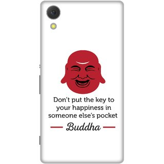 Print Opera Hard Plastic Designer Printed Phone Cover for Sony Xperia C6 - Laughing buddha face