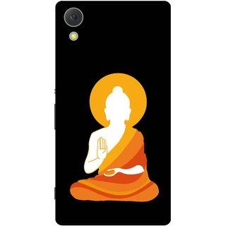 Print Opera Hard Plastic Designer Printed Phone Cover for Sony Xperia C6 - Buddha in drape white