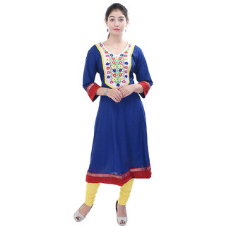 Purvahi-Cotton-Embroidered--Anarkali