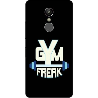 Print Opera Hard Plastic Designer Printed Phone Cover for Gionee S6s - Gym freak