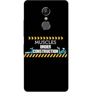 Print Opera Hard Plastic Designer Printed Phone Cover for Gionee S6s - Mucles under construction