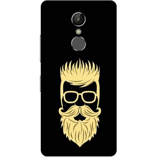 Print Opera Hard Plastic Designer Printed Phone Cover for Gionee S6s - Beared man with glasses