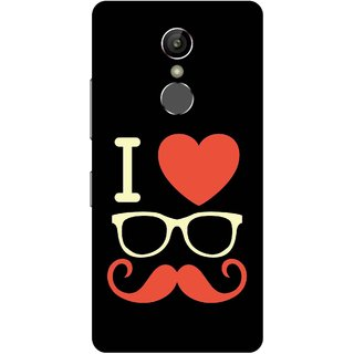 Print Opera Hard Plastic Designer Printed Phone Cover for Gionee S6s - I love moustache white