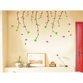 Walltola Wall Stickers Nature for Living Room PVC Multicolor (No of Pieces 1)
