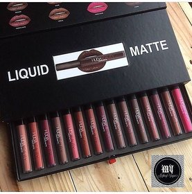 Huda Beauty Liquid Matte Lipstick Latest Collection 16 Pcs Set.