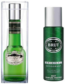 Brut Glass Perfume of 100 ml Edt And Brut deo of 150 Ml