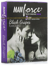 Manforce Extra Dotted Black Grape 20 pieces