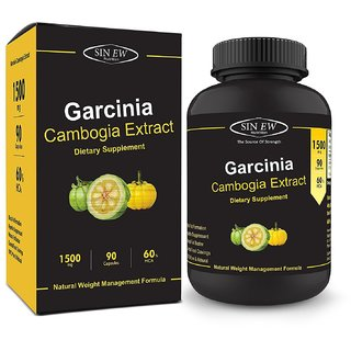 Sinew Nutrition Garcinia Cambogia Extract -(90 Capsules) 1500 mg, Pure Natural Weight Management Appetite
