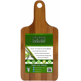 Moongil Cutting and Chopping Bamboo Wood board best for vegetable and meat cutting - Medium Bat