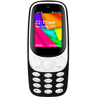 IKall K3310 Black (1.8 Inch, Dual Sim, Bis Certified, Made In India, Battery Saver)