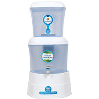 Kinsco Aqua Mineral Pot 7 Stage Gravity Water Purifier ( White And Blue)