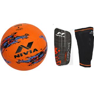 COMBO NIVIA STORM FOOT BALL + CLASSIC WITH SLEEVE SHIN GUARD