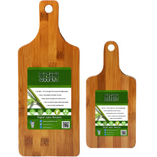 Moongil Cutting and Chopping Bamboo Wood board best for vegetable and meat cutting - Twin Bat Small Medium Bat