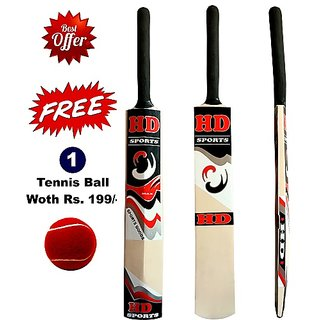 Buy Hd Cricket Tennis Bat Full Size With Free Tennis Ball Online