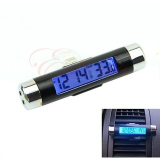 New Auto Car LCD Display Digital Thermometer Time Clock