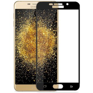 Unbreakable Screen Guard Samsung A9 Pro Tempered Glass,Screen To Screen Fit Full Tempered Glass,( Samsung A9 Pro, Black)