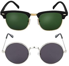 Combo of Club Master and Round Sunglass