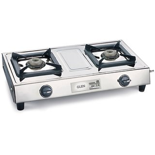 Glen GL 1024 SS AL 2 Burner Manual Gas Stove (3 Burner)