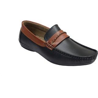 San Franco Black Synthetic Leather Slip-on Loafer