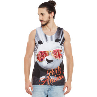 Wear Your Mind Men's Multicolor Graphic Print Round Neck T-shirt