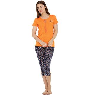 Tasseled Poppy Tshirt Capri set