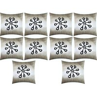 A Pack Of 10 Pcs., Vaachie Home 10H221014 GREY WITH BLACK EMB DESIGN