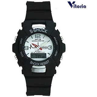 Vitoria S-Shock Titanium Dual time Digital-Analogue Sports Watch for Men