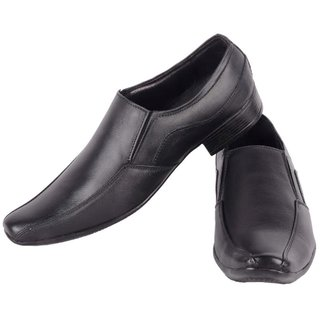 Admire Men's Black Color genuine leather Formals Slip on Shoes