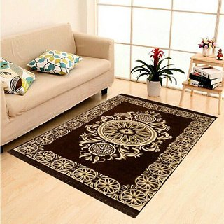 Captivating Home Castle Exclusive Cotton Jacquard Designer Carpet For Living Room(4.5  Feet X 7 Feet