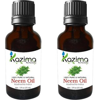 Kazima Neem Oil 100 Pure Natural  Undiluted Oil  (15 ml) PACK OF 2