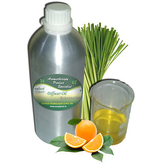 ecoplanet Aromatherapy Diffuser oil Rejuvenative blend of Essential Oils of Lemongrass and Orange 1000g