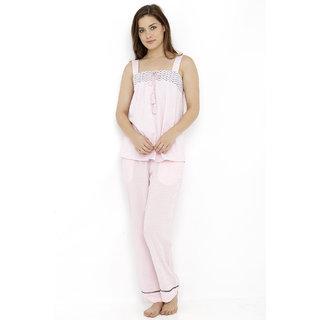Stylish Tasseled Top Pyjama Set